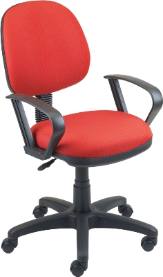 Ergocraft SS-20552 Workmate Task Chair w/ Medium Back, Upholstered, Adjustable Seat & Back Angle