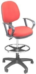 "Ergocraft SS-20551-ST Workmate Task Stool w/ Medium Back, Upholstered, 20"" Footring"