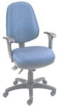 Ergocraft SS-20684 Workmate Task Chair w/ High Back & 4-Paddle V Control, Tilt Lock