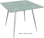 "Ergocraft TS-30442-AL Curve Lunchroom Round Table w/ 42"" Alumicast Top, Sleek Chrome Frame"