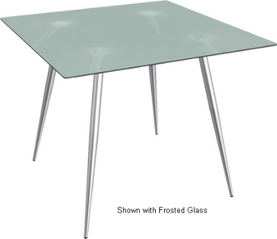 Ergocraft TS-30342-AL Curve Lunchroom Square Table w/ 42-in Alumicast Top, Sleek Chrome Frame