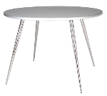 "Ergocraft TS-30536-AL Curve Round Tripod Table w/ 36"" Alumicast Top, 3-Intersecting Legs"