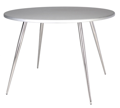 Ergocraft TS-30536-AL Curve Round Tripod Table w/ 36-in Alumicast Top, 3-Intersecting Legs