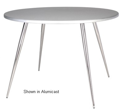 "Ergocraft TS-30536-FG Curve Round Tripod Table w/ 36"" Frosted Glass Top, 3-Intersecting Legs"