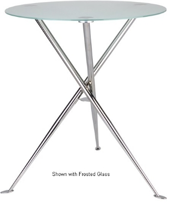 Ergocraft TS-31536-AL Curve Cafe Heights Table w/ Chrome Finish & 3-Intersecting Leg, Alumicast