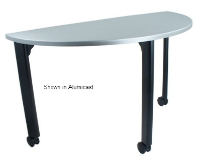 Ergocraft TS-40451-ALD 48-in Motion Training Table w/ Locking Casters, Quarter Round, Alder