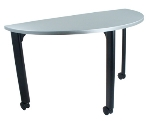 "Ergocraft TS-40451-ALU 48"" Motion Training Table w/ Locking Casters, Quarter Round, Alumicast"