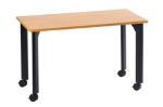 "Ergocraft TS-40452 ALD 30"" Motion Series Training Table w/ Locking Casters, Rectangular, Alder"