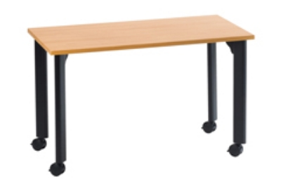 "Ergocraft TS-40456 ALD 60"" Motion Series Training Table w/ Locking Casters, Rectangular, Alder"
