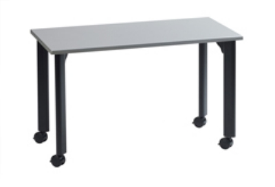 "Ergocraft TS-40454 ALU 42"" Motion Series Training Table w/ Locking Casters, Rectangular, Alumicast"