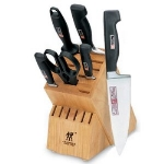 Henckels 35297-000 7-Piece Block Set w/ (4) Knives, Shears & Sharpening Steel