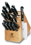 Zwilling J.A. Henckels 35617-100 18-Piece Block Set w/ (15) Knives, Sharpening Steel & Shears