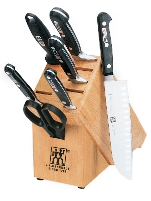 Henckels 35673-008 8-Piece Block Set w/ (5) Knives, Shears & Sharpening Steel