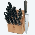 Henckels 35673-020 20-Piece Block Set w/ (17) Knives, Sharpening Steel, & Shears