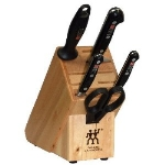 Henckels 35693-006 6-Piece Block Set w/ (3) Knives, Shears & Sharpening Steel