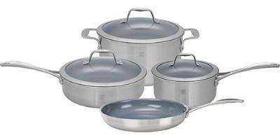 Zwilling J.a. Henckels 64080-000 7-Piece Set; 1-qt Sauce & 3-qt Saute Pan, 6-qt Dutch Oven w/ Lids, 10-in Fry Pan