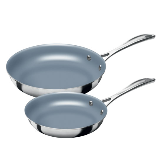 "Henckels 64080003 Spirit Fry Pan Set: 8"" & 10"", Thermolon Coated"
