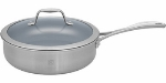 Zwilling J.a. Henckels 64087-240 3-qt Saute Pan w/ Lid, Thermolon Coated