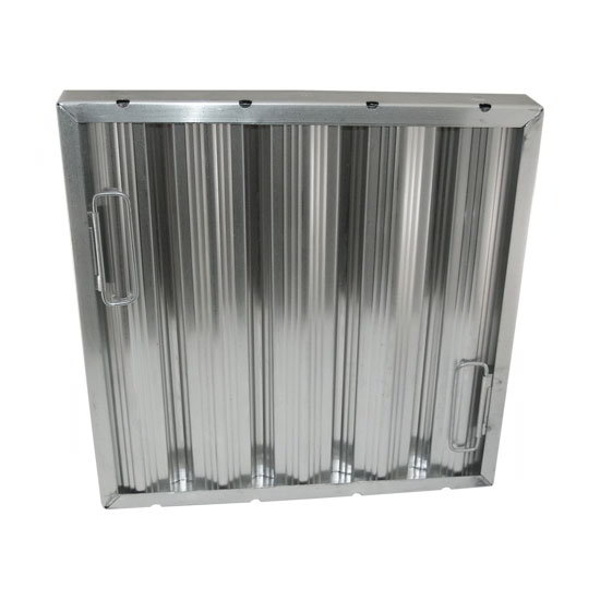 "AllPoints 26-1775 Baffle Filter, Framed, 20x20x2"", Stainless"