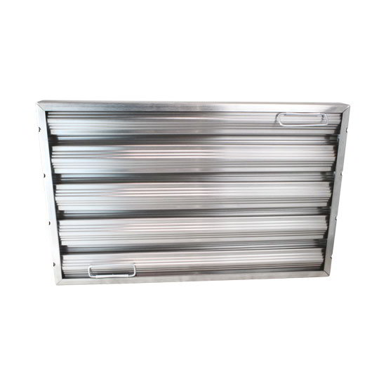 "AllPoints 26-1776 Baffle Filter, Framed, 20x25x2"", Stainless"