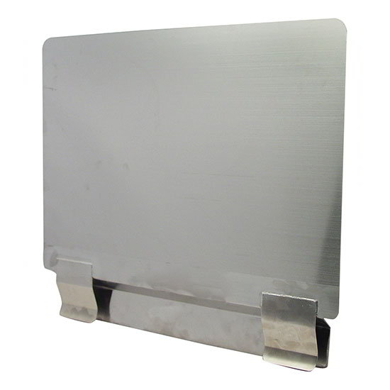 "AllPoints 26-5597 Splash Guard for Fryer, Removable, Left or Right Side, 20.5x18"", Stainless"