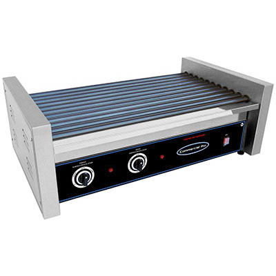 Commercial Pro CPRG50 50 Hot Dog Roller Grill - Flat Top, 120v