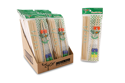 Funchop FC0003 Set of 5 Bamboo Chopsticks w/ Assorted Colored FunChop Connectors