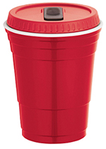 Wine Dweller BCR1299 16-oz Brew Chiller with Lid - Double Wall Insulation, BPA Free, Red