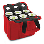 Picnic Time 608-00-100-000-0 Heavy Duty Six Pack Cooler - Holds (6) 12-oz Cans, Red