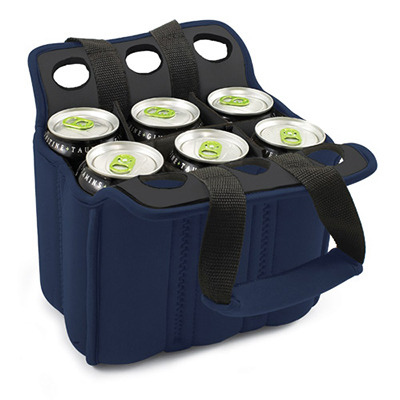 Picnic Time 608-00-138-000-0 Heavy Duty Six Pack Cooler - Holds (6) 12-oz Cans, Navy