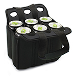 Picnic Time 608-00-1790000 Heavy Duty Six Pack Cooler - Holds (6) 12-oz Cans, Black