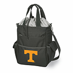 Picnic Time 614-00-175-554-0 Large Capacity Cooler - Expandable Drawstring, 5-Pockets, Adjustable Strap, Black