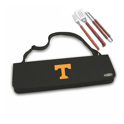 Picnic Time 749-03-175-554-0 3-Piece Carry Tote - Spatula, Tongs, Fork, Logo on Black