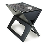 "Picnic Time 775-00-175-000-0 Portable Charcoal Grill - 203.5"" Grilling Surface, Carrying Tote, Black"