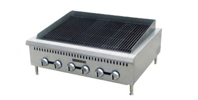 "Black Diamond BDCTC-48 LP 48"" Countertop Charbroiler - Heavy Duty, 160,000 BTU, Stainless, LP"