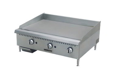 "Black Diamond BDCTG-48 LP 48"" Countertop Griddle - Heavy Duty, 120,000 BTU, Stainless, LP"
