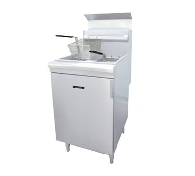 Black Diamond BDGF-150/NG Gas Fryer - (1) 70-lb Vat, Floor Model, NG
