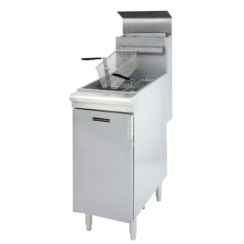 Black Diamond BDGF-90 NG Gas Fryer - (1) 40-lb Vat, Floor Model, NG