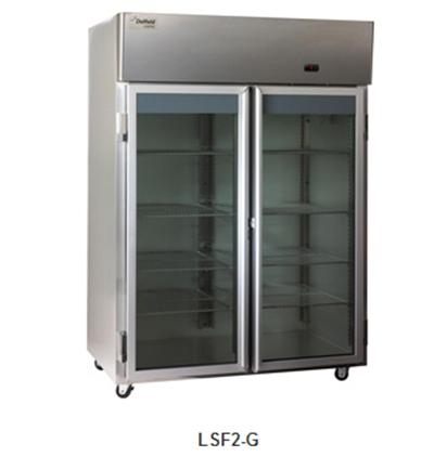 "Delfield Scientific LAF2-G 56"" Two Section Reach-In Freezer, (2) Glass Door, 115v"