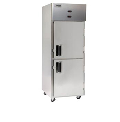 "Delfield Scientific LMDTR1-SH 29"" Reach-In Refrigerator/Freezer - (2) Solid Half Door, Aluminum/Stainless"