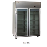 "Delfield Scientific LSF2-G 56"" Two Section Reach-In Freezer, (2) Glass Door, 115v"