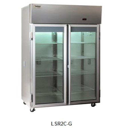 Delfield Scientific LSR1C-G Full Size Medical Refrigerator - Access Ports, 115v