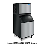 Koolaire KY-0350A161K570 400-lb/Day Half Cube Ice Maker w/ 430-lb Bin, Air Cooled, 115v