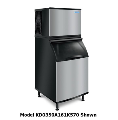 Koolaire By Manitowoc KY-0350A161K570 400-lb/Day Half Cube Ice Maker w/ 430-lb Bin, Air Cooled, 115v