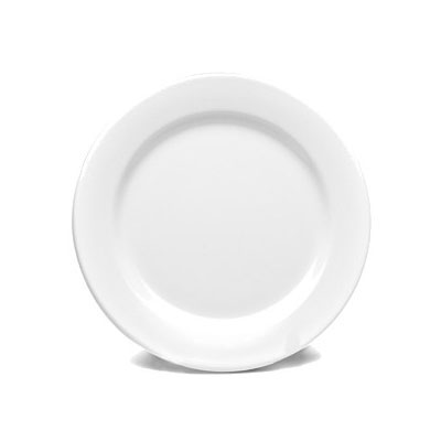 "Elite Global Solutions D1075PL-W 10.75"" Merced Plate - Melamine, White"