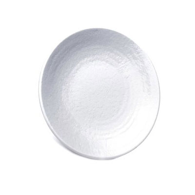 "Elite Global Solutions D10RR-W 10"" Pebble Creek Plate - Melamine, White"