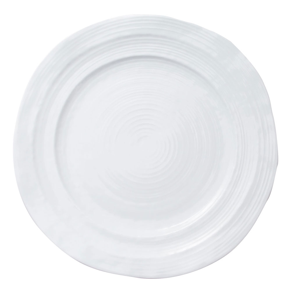 "Elite Global Solutions D1134-W 11.75"" Round Della Terra Plate - Melamine, White"