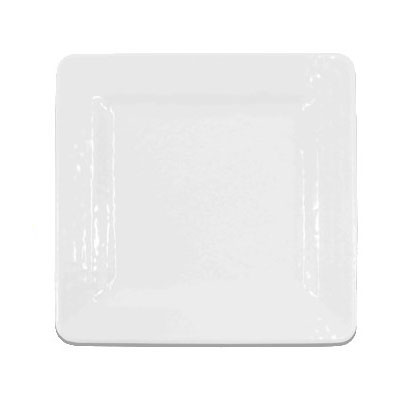 "Elite Global Solutions D11SQRR-W 11"" Pebble Creek Square Plate - Melamine, White"
