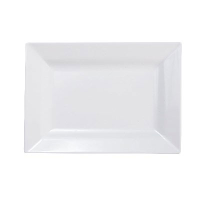 "Elite Global Solutions D557RC-W Rectangular Vogue Plate - 7"" x 5.5"", Melamine, White"