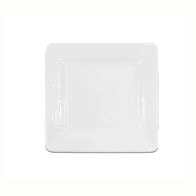 "Elite Global Solutions D5SQRR-W 5"" Pebble Creek Square Plate - Melamine, White"